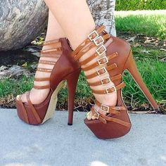sexi heel, exact shoe, tan