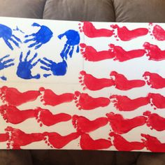Hand and foot print flag
