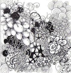 Zentangle Inspiration by Certified Zentangle Teacher Toni Henneman