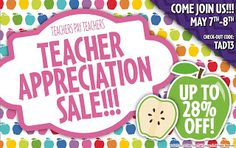 Sub Hub: Teacher Appreciation Sale May 7-8