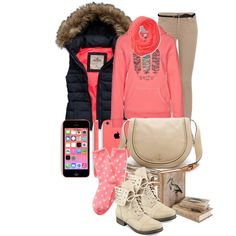 """""""school days"""" by tinadhaliwal on Polyvore winter outfit"""