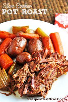 Fantastic Slow Cooker Pot Roast Recipe that has that old fashioned taste! #CrockPot #SlowCooker