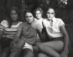 "Nicholas Nixon, ""The Brown Sisters, Cincinnati, OH"" (1981)   photograph   gelatin silver print    Source: http://www.sfmoma.org/explore/collection/artwork/103151#ixzz1jCSF4Pfw   San Francisco Museum of Modern Art"