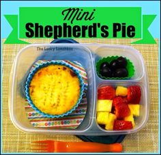 Mini shepherd's pie packed for lunch via theluckylunch.blogspot.com/