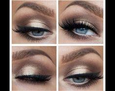 Eye makeup #mascara #eyeliner #eyeshadow #simple #pretty