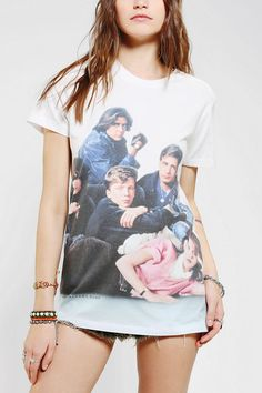 Junk Food Breakfast Club Group Tee  I love the casualness of an everyday t-shirt, but they are even better when you get cool prints or designs on them. I especially love old fashioned and vintage inspired pieces, which are an easy find over at urban outfitters.  Especially when it's the Breakfast Club. Don't you, forget about me.
