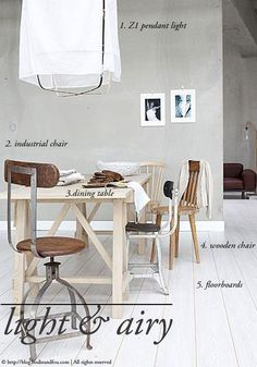 3 looks to create an inviting dining area in your home: Light & Airy