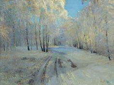 Vasily Baksheev, The Hoarfrost, 1900
