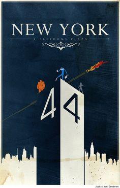 Fantastic Four New York minimalist