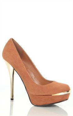 Deb Shops platform #pump with gold electroplating  $27.67