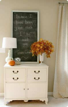 Fall + Chalkboards - The Inspired Room