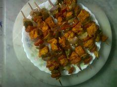 Minecraft food - square meat on sticks