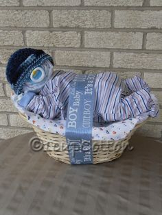 """Baby gift basket! I love this!! And I know a baby who will be arriving very soon..this may just be her """"birthday"""" present"""