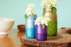 Add versatile mason jars to bring beauty and function to your home décor.