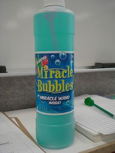 Miracle bubbles - they teach self-control.