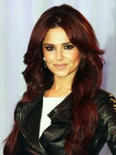 Cheryl Cole with Mahogany Hair Color - for natural mahogany hair color http://www.lotusbrandsmall.com/item.php?item=187120