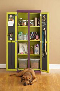 Wardrobe turned dog closet!