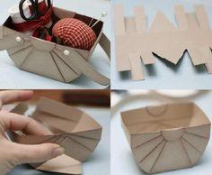 Simple Cardboard Basket