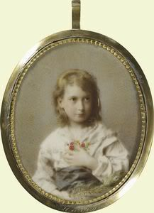 """Princess Maud (Maud Charlotte Mary Victoria """"Harry"""") (1869-1938) of Wales, UK. 5th child of Edward VII (1841-1910) & Alexander of Denmark (1844–1925). Married King Haakon VII (Prince Carl of Denmark & Iceland, born Christian Frederik Carl Georg Valdemar Axel) (1872-1957) Norway. Queen Maud of Norway as a little girl."""