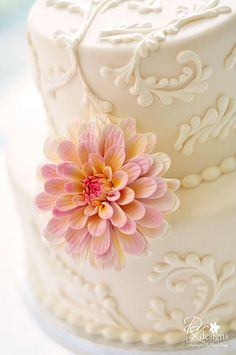 Pretty spring/summer wedding cake! #Wedding #Watters http://www.pinterest.com/wattersdesigns/