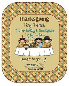 {Thanksgiving Tiny Teach FREE Download}
