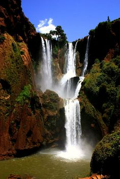 Ouzoud Falls, #Morocco #travel- Follow Me: www.orlandoweddingsinger.com   www.pinterest.com/dowopdave   http://twitter.com/davidfroberts   https://www.facebook.com/pages/David-Roberts-and-the-Sounds-of-Sinatra/271766759522088   http://www.linkedin.com/profile/view?id=50182491 #davidroberts #franksinatrasinger #weddingsinger #livejazzvocals