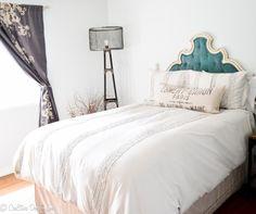 decor, project, milli hous, bedroom idea, diy velvet headboard, diy headboards, singl bedroom, bedrooms, cre8tiv design