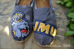 Rock your JMU pride at games or the grocery store with these great custom shoes!