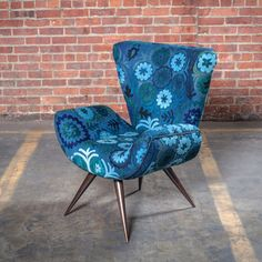 Love the vibrance this could offer to a house!   Fab.com   Frida Chair Suzani Cobalt