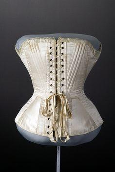 Wedding corset, 1874