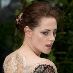 Kristen Stewart's Gold Chain Chignon