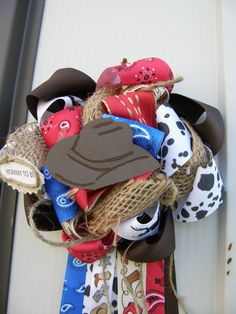 Western corsage-cowboy baby shower-western baby shower-western -baby shower theme