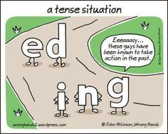 "A Tense Situation - The ""ING"" meets the ""ED"" (image only)"