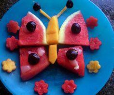 Butterfly fruit art by Anne Osborne