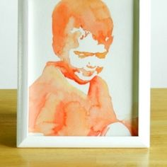 Make custom watercolor portraits of loved ones with this tutorial. It's easier than it looks!