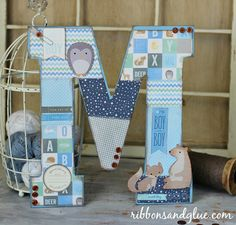 Mod Podge Woodland Nursery Monogram