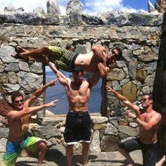 The Boys having FUN at Emerald Bay Lake Tahoe Castle