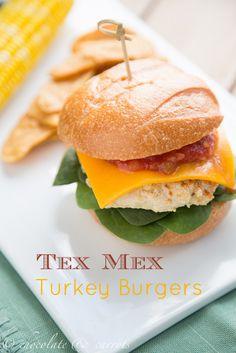 Tex Mex Turkey Burgers from chocolate & carrots