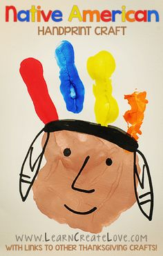 Native American Handprint Craft   LearnCreateLove.com