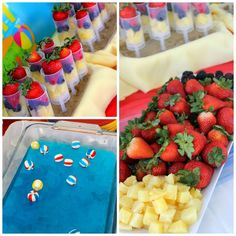 Food at a Beach Ball Party (love the jello and beach balls) #beachball #party