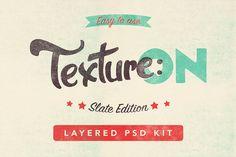Texture:ON - Slate - Layered PSD Kit by Román Jusdado on Creative Market
