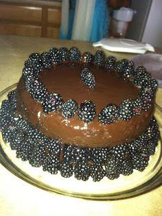 Dark Chocolate Blackberry Cake