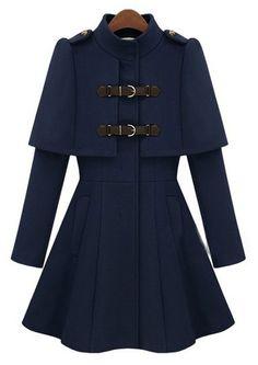 Navy High Neck lov the high neck neeeed it brrrrrrrrr but I think this is a lovely feminine coat!