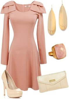 """""""peaches and cream"""" by melissascholtengutierrez on Polyvore"""
