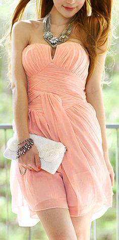 Blush Chiffon Dress //