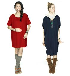 We adore The HATCH Collection's dresses for fall. #maternity #fashion
