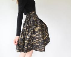 vintage 1950s circle skirt 50s skirt XS  by Luncheonettevintage, $96.00
