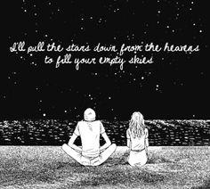 amor, sky, night skies, heaven, stars, art, inspir, frase, love quotes
