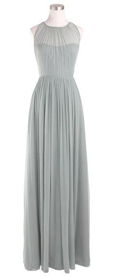 Sheer chiffon dress