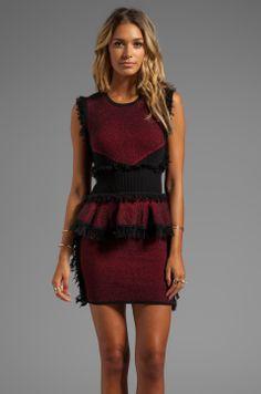Fringe Tweed Dress McQ Alexander McQueen